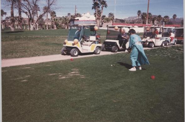 Grandma golfing in Arizona