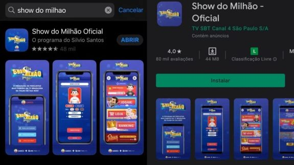 Show do Milhão para Android e iOS
