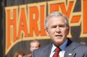 President Bush at Harley-Davidson