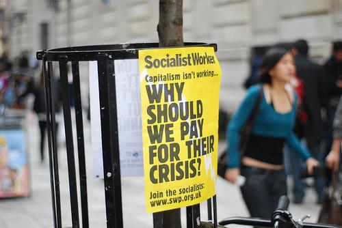 Demonstration Against UK Gov Bailout