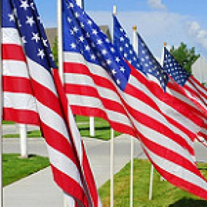 VA Loans and American flag