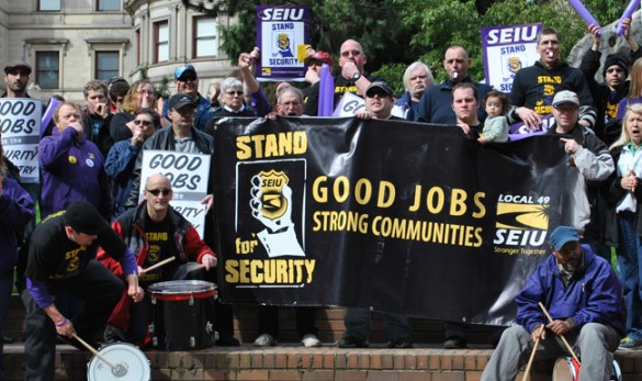SEIU 49 Stand for Security at CityHall