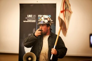 Labor's voice: How to make sure you're heard and not be talked over: Bring a bullhorn.
