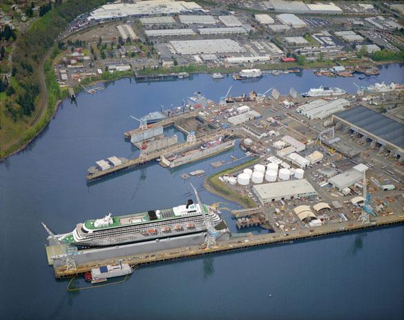 Portland Yard with new dry dock