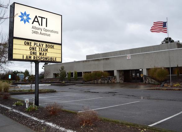 Empty parking lot at ATI Albany