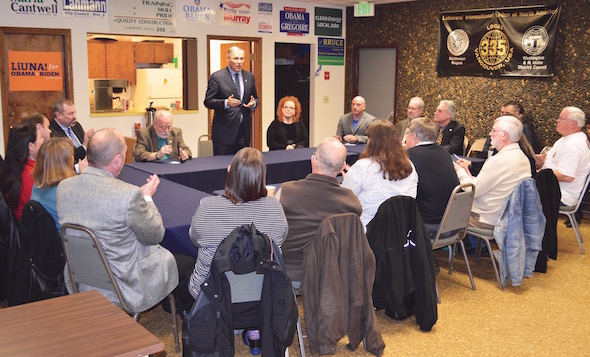 Inslee meet with labor leaders