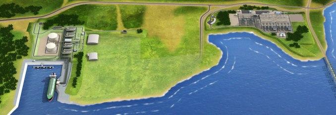An artist's rendering of the Jordan Cove terminal