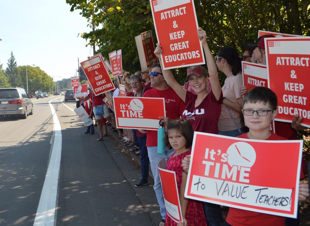 Clark County Teachers Affirm Strike Commitment If Funding: Teacher Strike Wave Hits Washington
