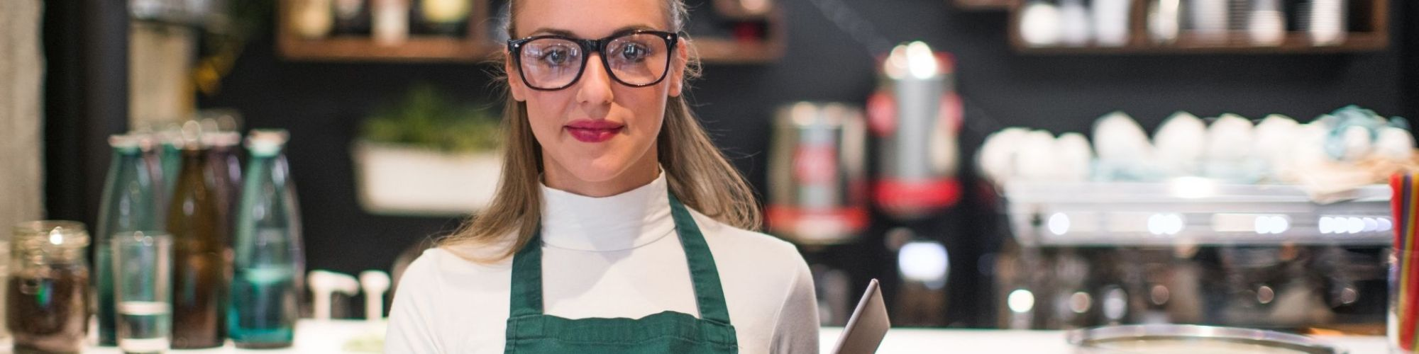 Student working at a restaurant