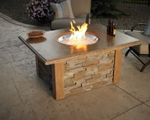 Outdoor Great Room Gas Fire Pit Table | NW Natural ... on Living Room Fire Pit id=43654