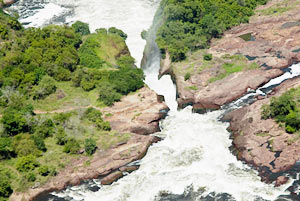 Aerial view of Murchison Falls