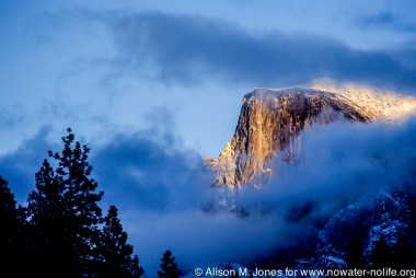 California: Yosemite National Park, Half Dome at sunset