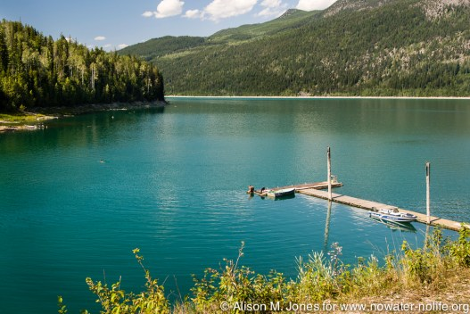 Canada: British Columbia, Kootenay Rockies, Columbia River Basin, East Kootenays, Kinbasket Lake Resort, near Donald, Beaver Creek and Kinbasket Lake, PR
