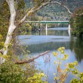 USA: Tennessee, Tennessee River Basin, Harriman, Emory River at Lon Mee Bridge