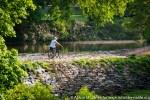 USA: New Jersey, New Brunswick, Delaware and Raritan Canal, bicycle