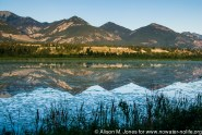 Canada: British Columbia, Kootenay Rockies, Columbia River Basin, Wilmer, view across Columbia Wetlands at sunset
