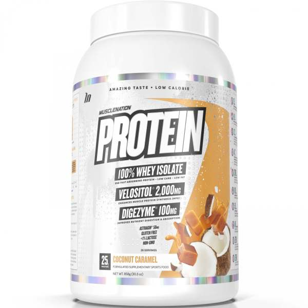 muscle nation protein coconut caramel