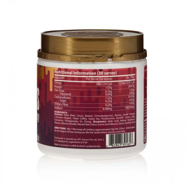 ATP Science Limitless Clean Energy Berry Nutrition