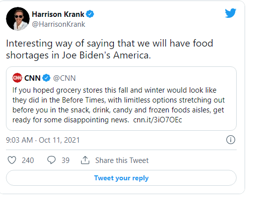 "CNN Uses Creepy, Dystopian ""Before Times"" Rhetoric to Justify Empty Shelves Image-900"