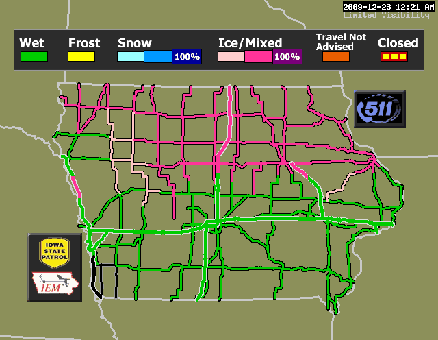 Dot Ia Road Conditions Map