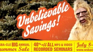 WSBA-CLE Summer Sale