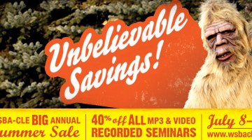 WSBA-CLE Summer Sale