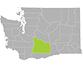 Yakima County map