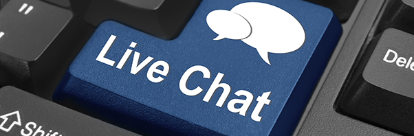 Live chat button on computer key board