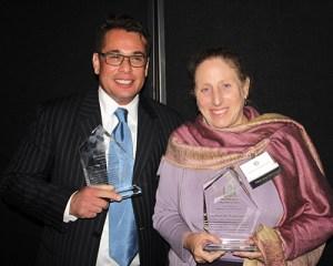 Manuel F. Rios III and Deborah M. Niedermeyer, 2015 Award of Merit recipients.