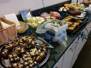 An array of fresh baked treats on a table.
