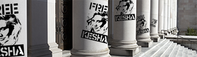 Freekesha graffiti on a court house