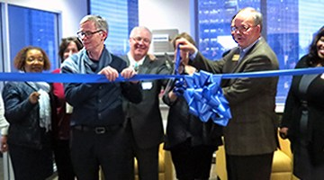 WSBA governors past and present help out with the ribbon-cutting.