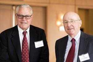 50-year members J. Richard Crockett and J. Markham Marshall.