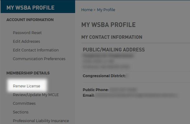 Online licensing screenshot