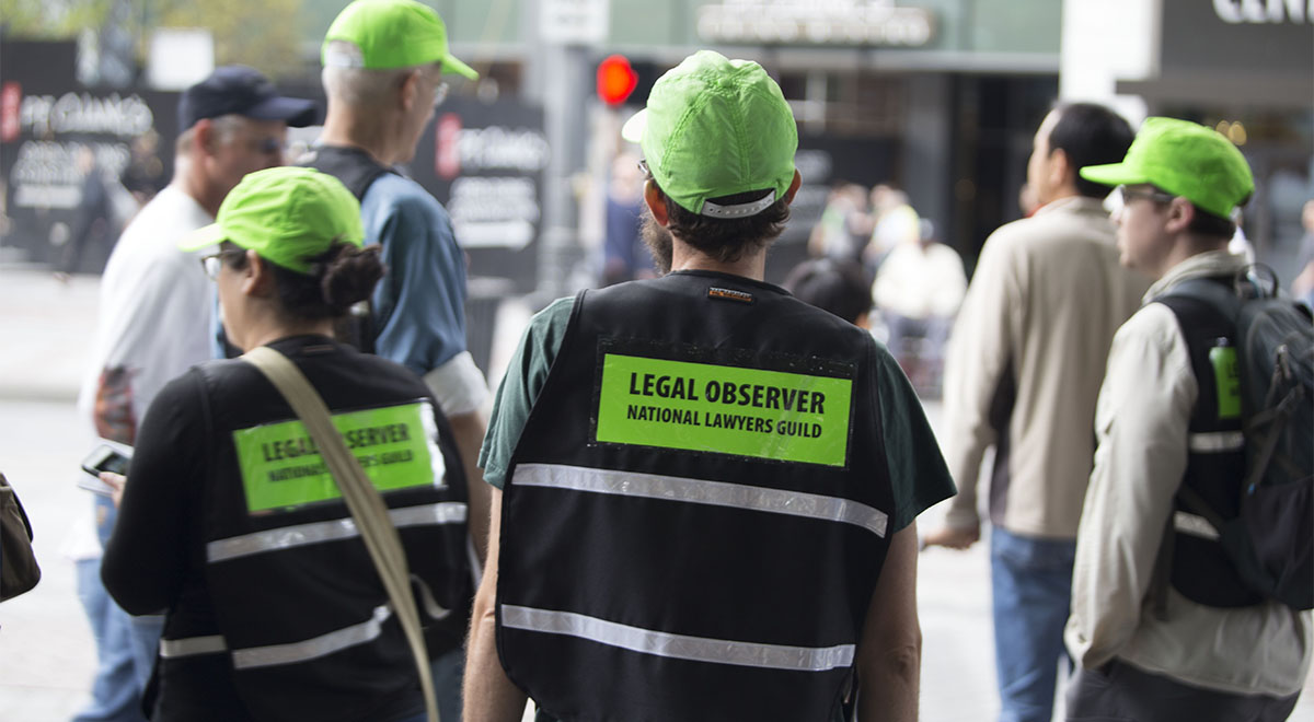 The Green Hats at the Protests: National Lawyers Guild Legal Observers