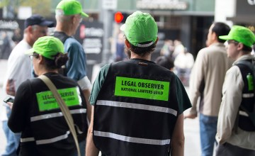 NLG Legal Observers at protest