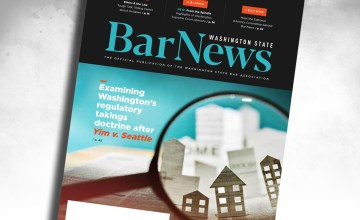 Cover of Bar News Sept 2020