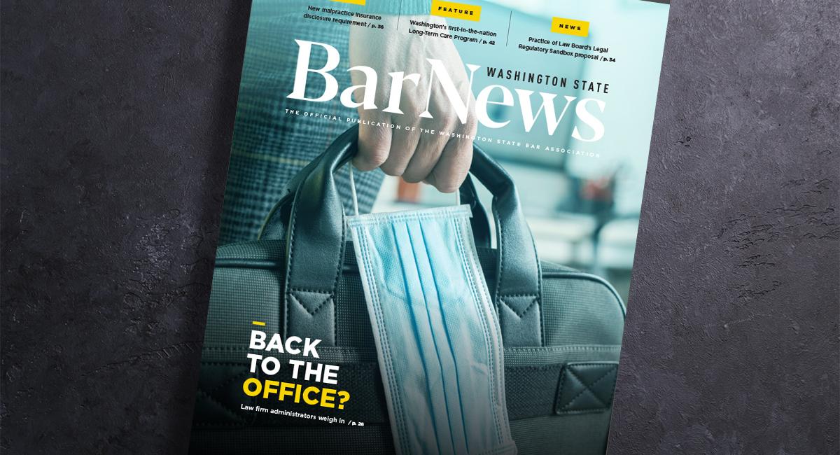 Cover of Bar News Sept. 2021