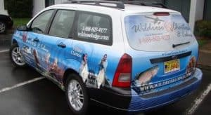 Wildrose Charters Car Wrap