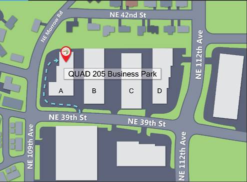 map of nw sign solutions location in Vancouver WA