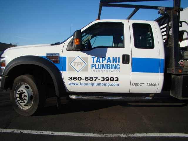 Tapani Plumbing Truck Wrap Advertise