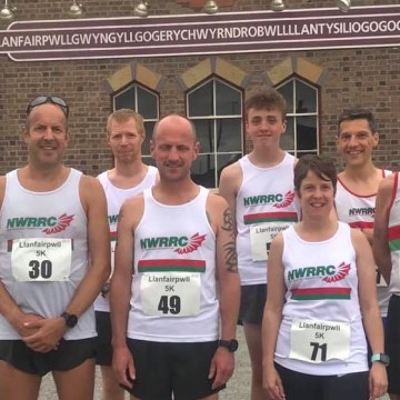 Family rivalry for North Wales Road Runners at Llanfair PG 5k race