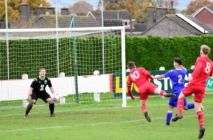 Welsh Alliance League: Denbigh record heaviest win of season, Aberffraw cause another cup upset