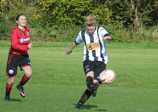 Girls for Goals: Pwllheli players make their moves