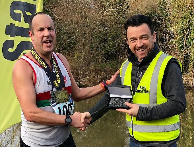 Running news: Evans completes unique double