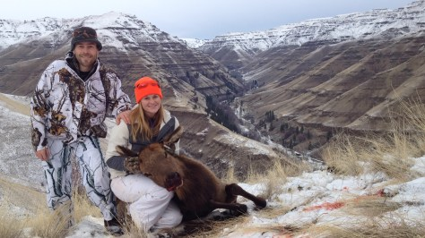 New Year's Day was especially notable for Melissa Little. She harvested her first elk that day while hunting on the Zumwalt Prairie Preserve of Northeast Oregon, under the tutelage of her brother, Matt Little. (BROWNING PHOTO CONTEST)