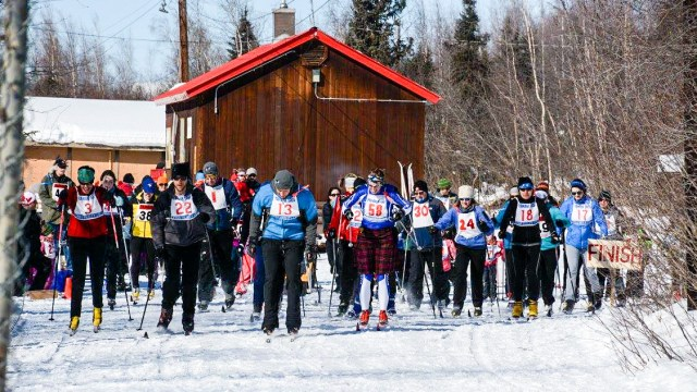 Start of 2016 Top of the World Loppet