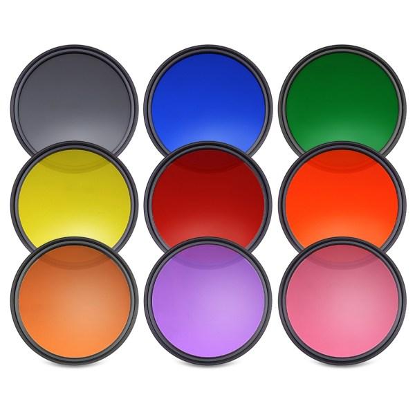 Neewer 9pcs 58mm Complete Full Color Lens Filter Set for ...