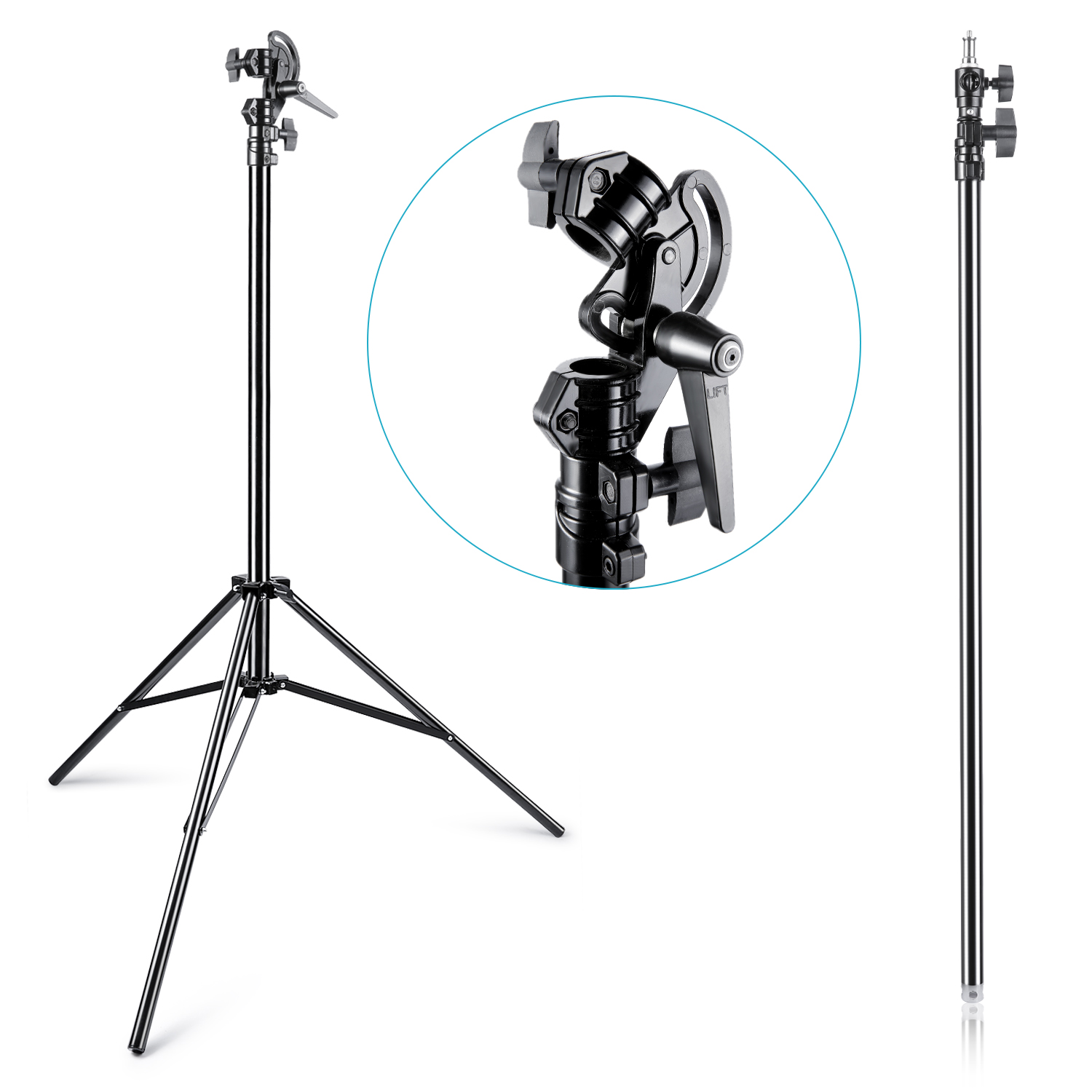Neewer 13feet Two Way Rotable Adjustable Tripod Boom Light Stand With Sandbag