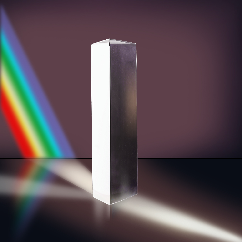 New 6 Inch Optical Glass Triangular Prism Physics Teaching Light Spectrum 15cm